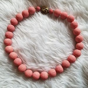 1960s Chunky Pink Bead Vintage Necklace
